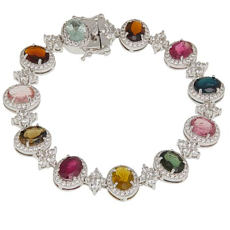 Colleen Lopez 17.4ctw Multi Tourmaline and White Topaz Bracelet