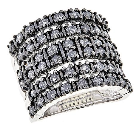 Colleen Lopez 1.82ctw Cashmere Gray Diamond Sterling Silver Ring