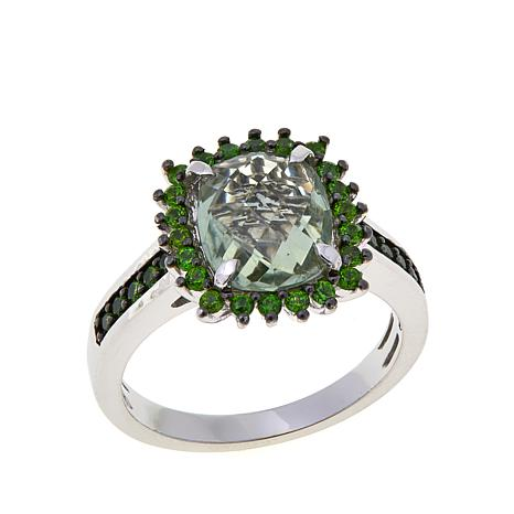 Colleen Lopez 2.48ctw Prasiolite & Chrome Diopside Ring