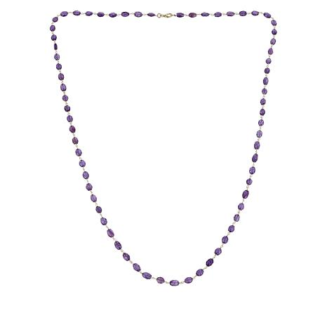 "Colleen Lopez 36"" Faceted Amethyst Necklace"