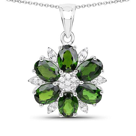 Colleen Lopez 4.26ctw Chrome Diopside Pendant w/Chain