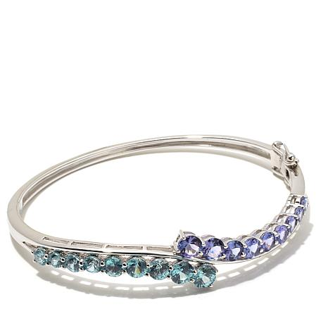 Colleen Lopez 6.33ctw Tanzanite & Blue Zircon Bracelet