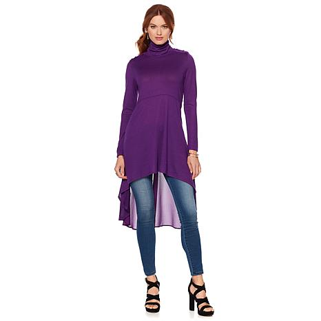 Colleen Lopez Autumn Swing Cowl-Neck Tunic Dress
