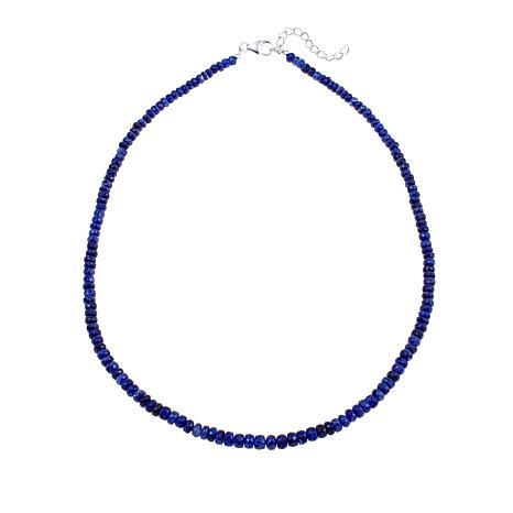 "Colleen Lopez Blue Sapphire Faceted Bead 18"" Necklace"