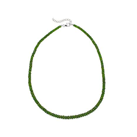 "Colleen Lopez Chrome Diopside Faceted Bead 19"" Necklace"