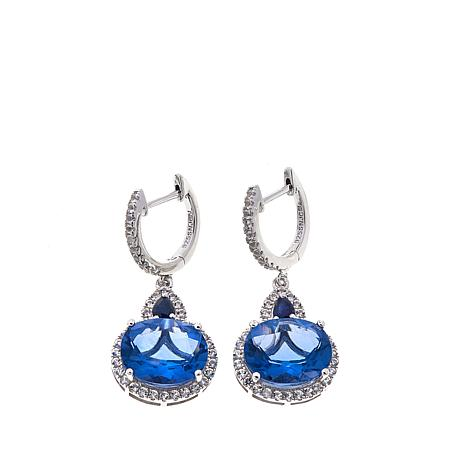 Colleen Lopez Color-Change Fluorite, Sapphire and White Topaz Earrings