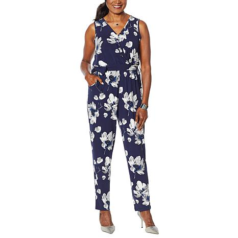 Colleen Lopez Crossover Knit Jumpsuit
