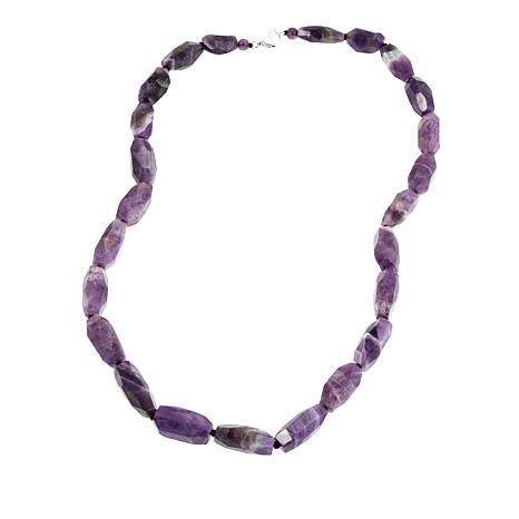 "Colleen Lopez Faceted Amethyst 24-3/4"" Necklace"