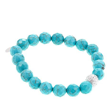 Colleen Lopez Faceted Gem Bead Stretch Bracelet
