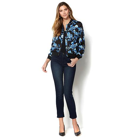 Colleen Lopez Floral-Print Bomber Jacket - 8500649 | HSN