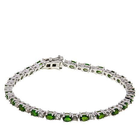 Colleen Lopez Gemstone and White Zircon Tennis Bracelet