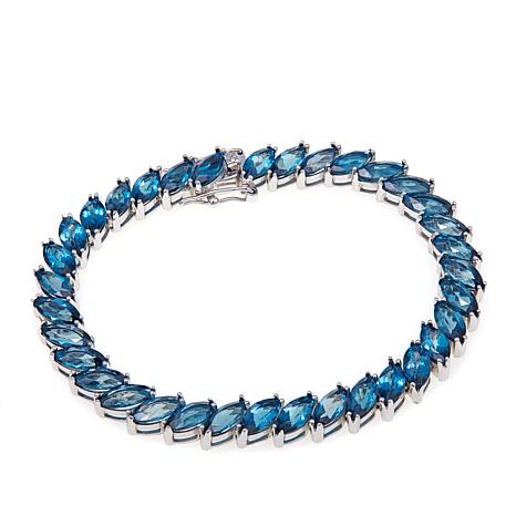 Colleen Lopez Marquise Cut London Blue Topaz Bracelet