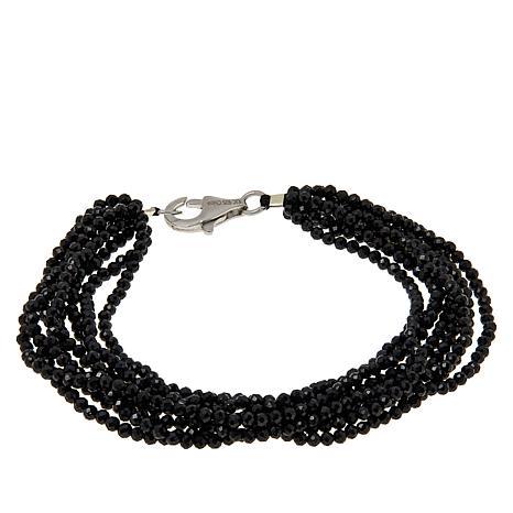 Colleen Lopez Multi-Strand Black Spinel Beaded Bracelet