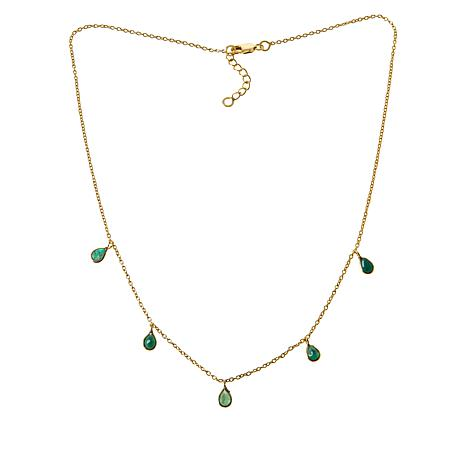 Colleen Lopez Pear-Shaped Gemstone Drop Necklace