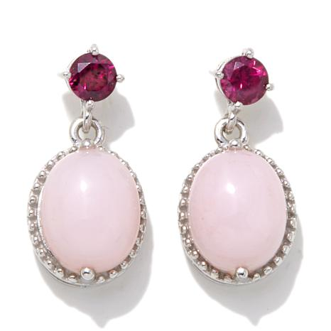 Colleen Lopez Pink Opal and Rhodolite Earrings