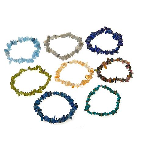 Colleen Lopez Set of 8 Gemstone Stretch Bracelets
