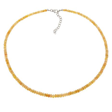 Colleen Lopez Sterling Silver Ethiopian Opal Beaded Necklace