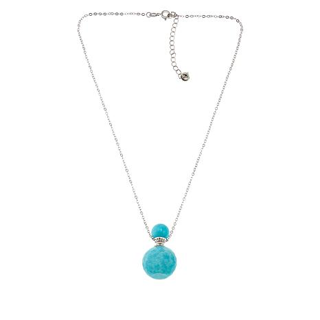 Colleen Lopez Sterling Silver Gemstone Bottle Pendant with Chain
