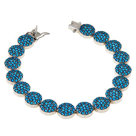 Colleen Lopez Sterling Silver Neon Blue Apatite Bracelet