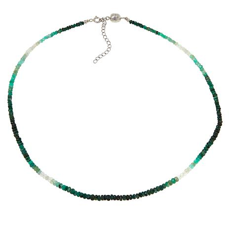 Colleen Lopez Sterling Silver Precious Gemstone Ombré Necklace