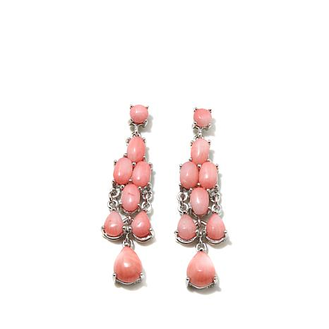 "Colleen Lopez ""Sun Kissed"" Pink Coral Earrings"