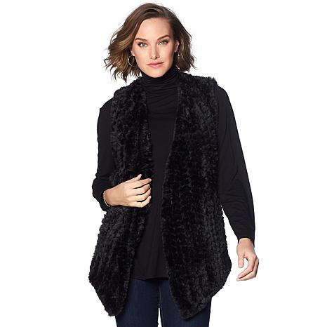 Colleen Lopez Touch of Glam Faux Fur Vest
