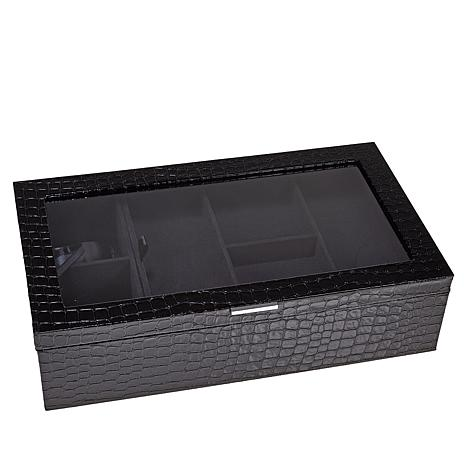 Colleen's Prestige™ 2-Level Croco-Embossed Everything Jewelry Box