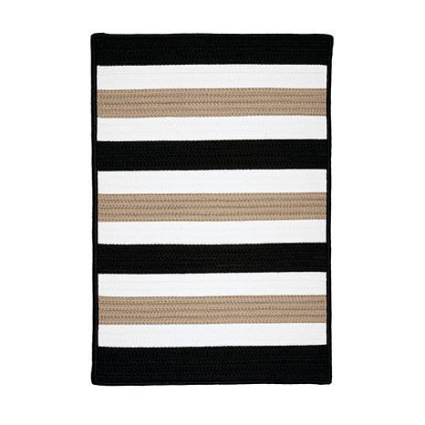 Colonial Mills Portico 8' Square Rug - Sharp Black