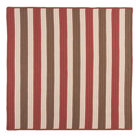 Colonial Mills Stripe It 8' Square Rug - Terracotta