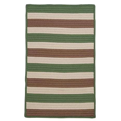 Colonial Mills Stripe It 8' x 11' Rug - Moss/Stone