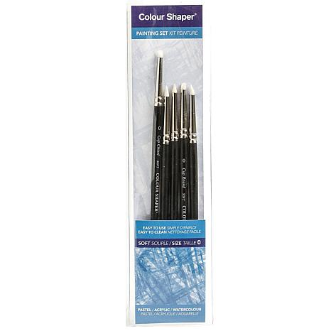Color Shaper Painting Tool/Pastel Blending Assorted Soft No. 0, 5-pack