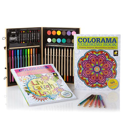 colorama coloring books with 51 piece coloring kit