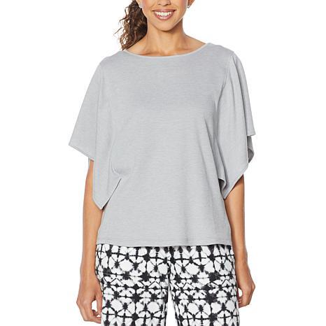 Comfort Code Double Jersey Flutter-Sleeve Top