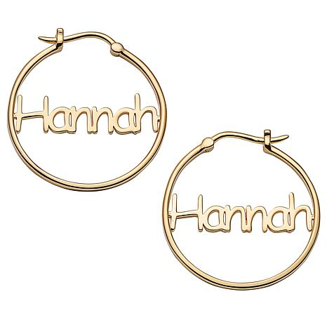 Comic Sans Name Small 25mm Hoop Earrings