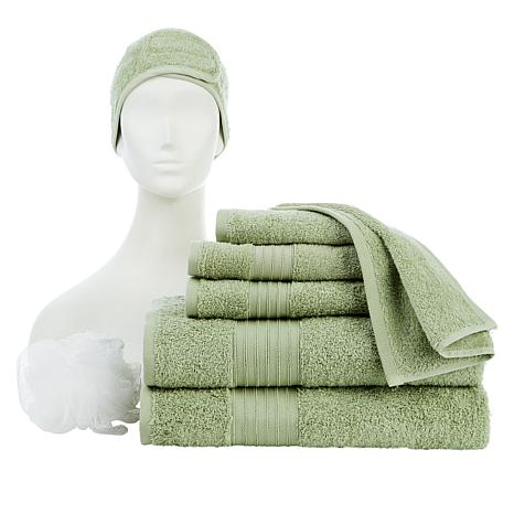 Concierge Collection 8-piece 100% Turkish Cotton Towel and Spa Set