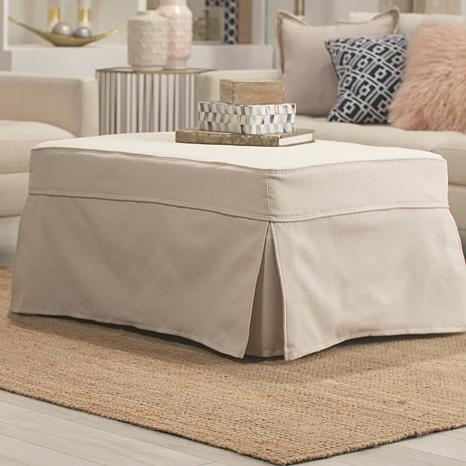 Concierge Collection Convertible Twin Ottoman - Ivory