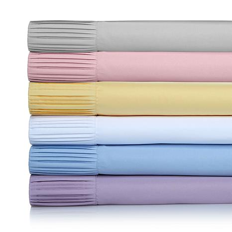 Concierge Collection Pleated Hem 4-piece Sheet Set
