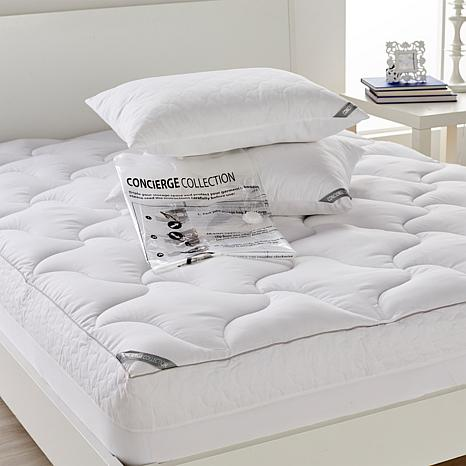 Concierge Rx Mattress Pad & Pillows w/Compression Bag