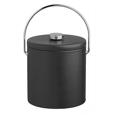 Contempo Tall 3-Quart Leatherette Ice Bucket with Lid