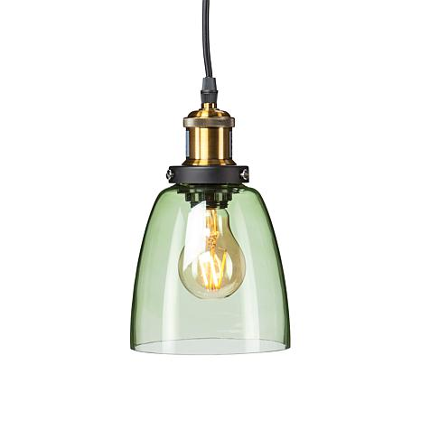 Corwyn Colored Glass Mini Pendant Lamp - Spring Green