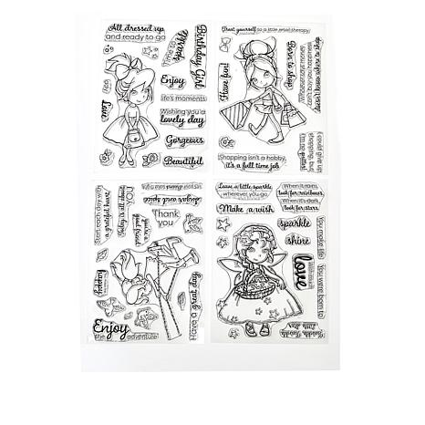 Crafter's Companion 4-pack Everyday Stamps  by Annabel Spenceley