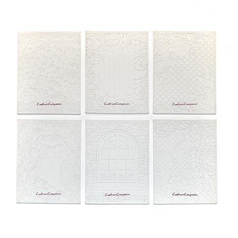 Crafter's Companion 6-piece Rustic Cottage 3D Embossing Folders