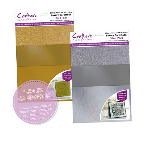 6 by 6-Inch Gold Dust 20-Pack Crafters Companion Shimmering Cardstock