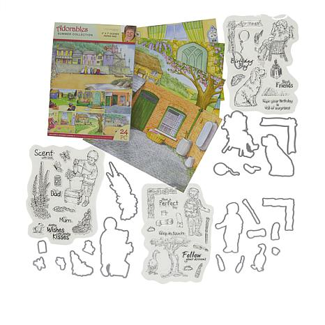 Crafter's Companion Adorable Boy Stamp and Die Sets with Paper Pad
