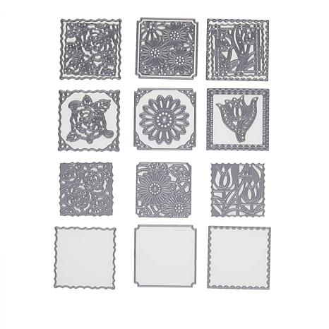 Crafter's Companion Create-A-Card Floral Patchwork Die Sets AS