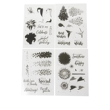 Crafter's Companion Floral 4-pack Layering Stamps