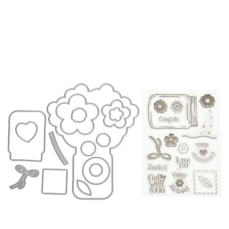 """Crafter's Companion """"For Her"""" Shaped Card Base Dies and Stamps"""