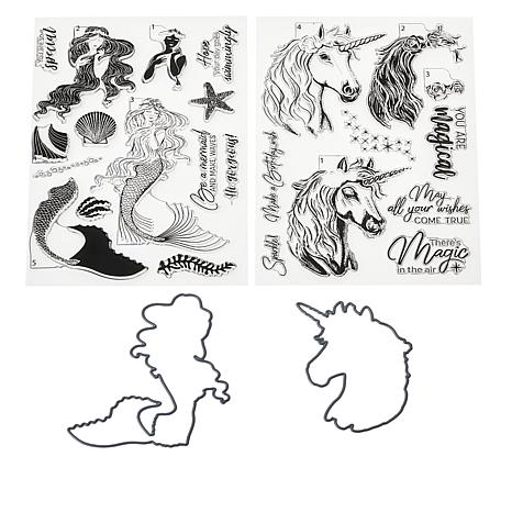 Crafter's Companion Gemini Layering Stamp & Die Set - Mythical