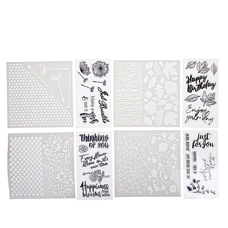 """Crafter's Companion """"Nature"""" Background Stencil and Stamps"""