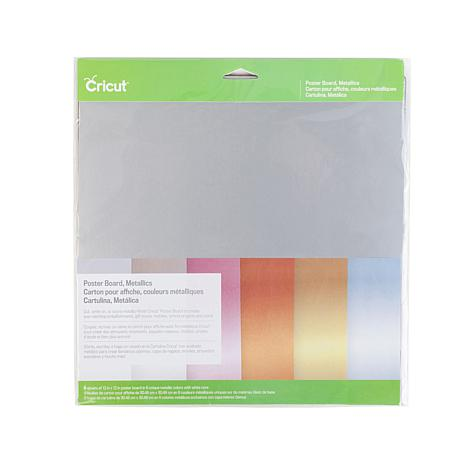 "Cricut 12"" x 12"" Metallic Poster Board 6-pack"